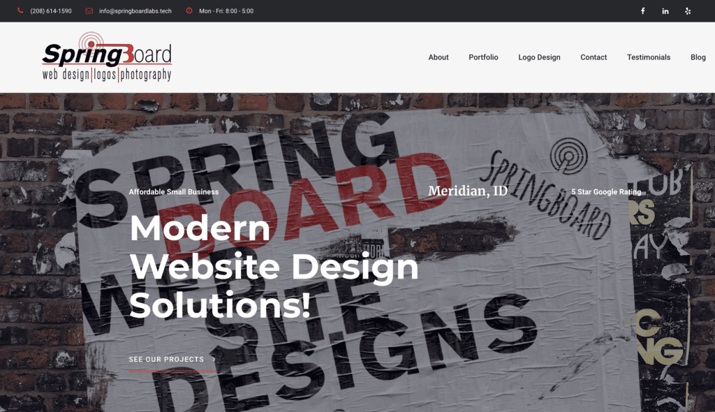 Website Design Meridian | Springboard Website Design and