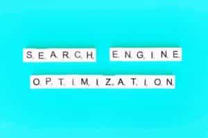 Scrabble board pieces spelling Search Engine Optimization