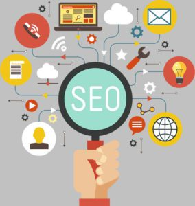 Cartoon images of seo services needed for a website by Springboard Website Designs of Boise Meridian Idaho