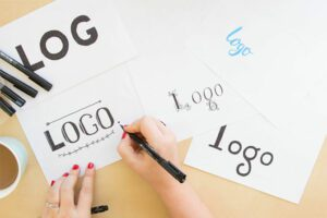 Website designer in Boise Idaho creating business logo drawings